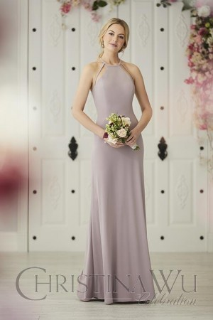 christina wu halter neck bridesmaid dress 01 663