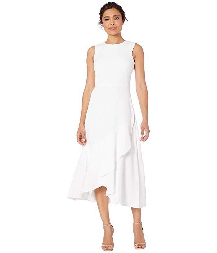 Calvin Klein Ruffle Hem Dress