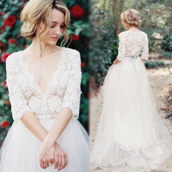 Cap Sleeve Lace Wedding Dress Vintage Fresh Suknie ślubne Inspiracje I Pomysły