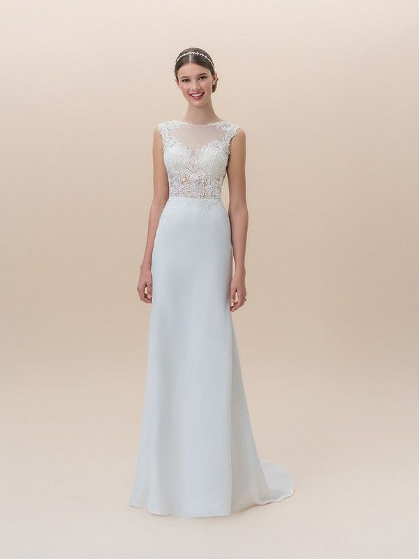 Casual Bride Dress Awesome Moonlight Tango Crepe Back Satin Mermaid Bridal Gown Style