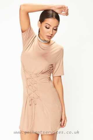 ally camel corset t shirt dress ally camel 0D