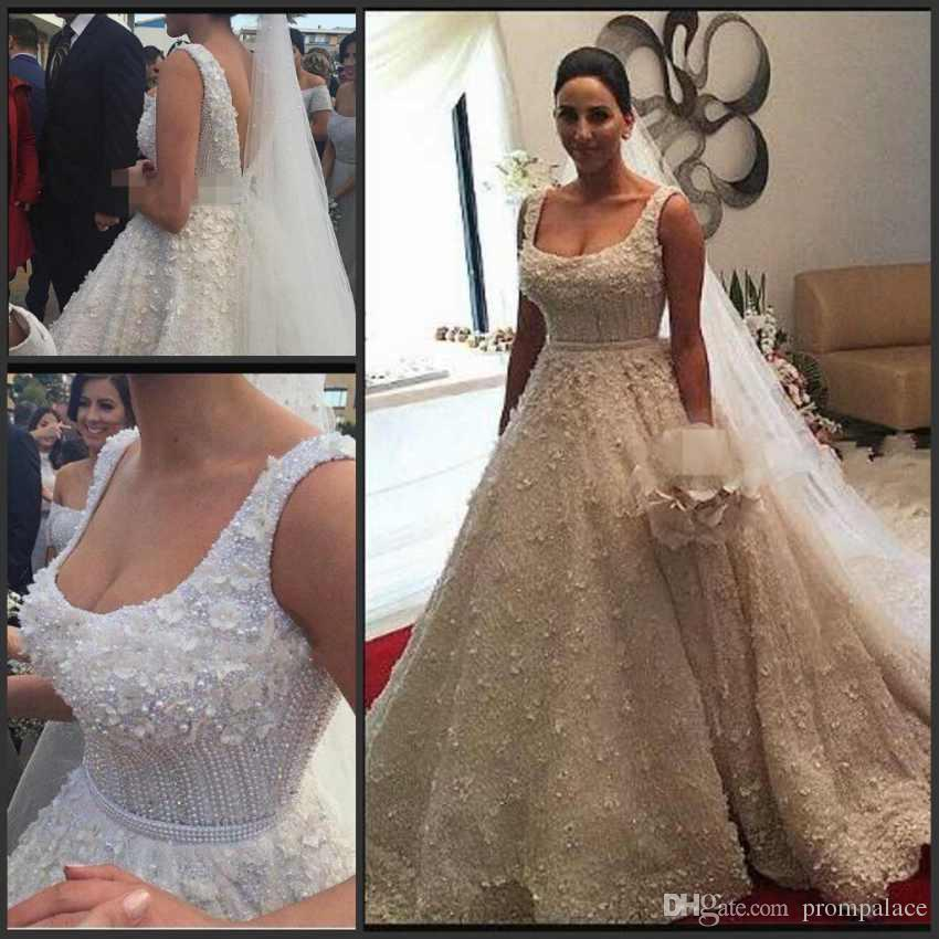 cheap wedding gowns in dubai lovely y backless beaded pearls wedding dresses beach bridal gowns a