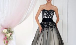 28 Lovely Cheap Black Wedding Dresses