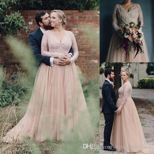 Cheap Plus Size Beach Wedding Dresses Beautiful Plus Size Lace Wedding Gowns Elegant Discount 2017 Plus Size