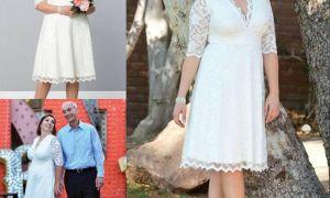 25 Beautiful Cheap Plus Size Short Wedding Dresses