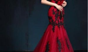 20 Luxury Cheap Red and Black Wedding Dresses