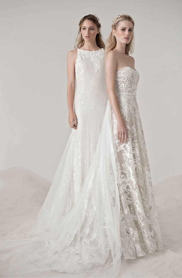 Lee Petra Grebenau Mother of Pearl collection Eleanor wedding dresses