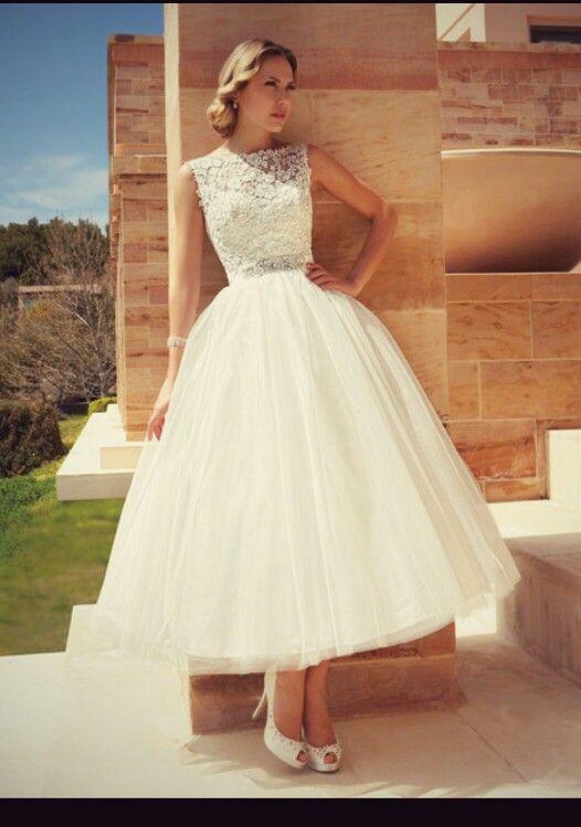 kupuj line wyprzedaowe vintage tea length wedding dress od wedding with extra cheap lace wedding dress photo