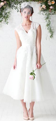 ed89e24a2d2fbbf f341f0e21ac tea length wedding dress short wedding dresses