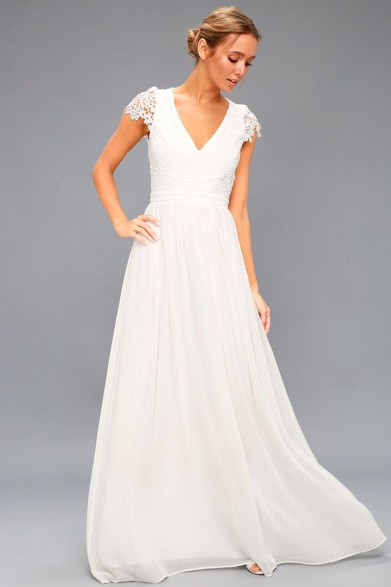cheap maxi dresses for weddings fresh florianna white backless lace maxi dress wedding time