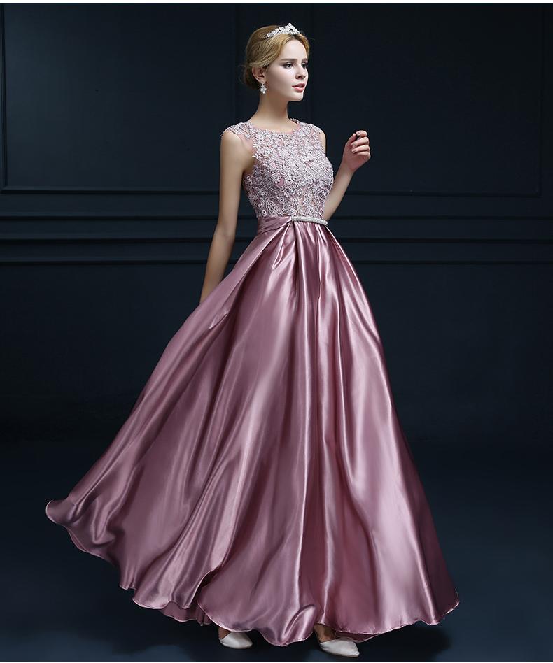 Cheap Wedding Dresses Plus Size Under 100 Dollars New Clearance Long evening Dress Lace Satin Banquet formal Dress Plus Size Bridal Elegant Reflective Dress Robe De soiree