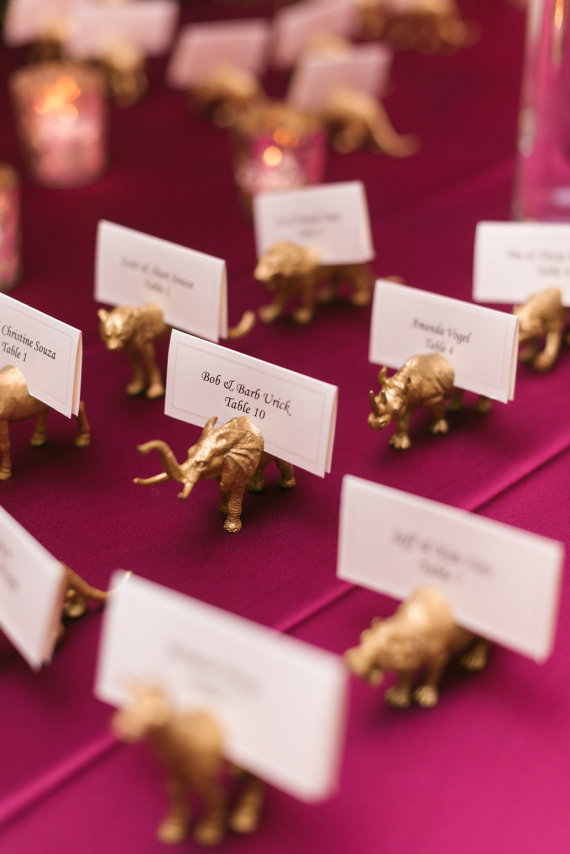 87 animal place card holders wedding favours