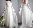 Chiffon A Line Wedding Dresses Inspirational Sretchy Lace Sleeves Elegant Wedding Dress Open Back Chiffon