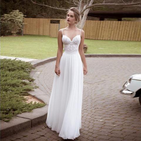 Chiffon Beach Wedding Dresses Beautiful Adln New 2019 Arrival Stock Lace Wedding Dresses Beach