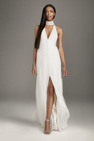 Chiffon Beach Wedding Dresses Elegant White by Vera Wang Wedding Dresses & Gowns