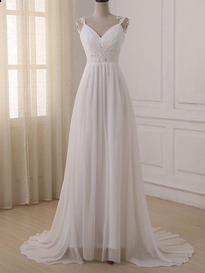 Chiffon Beach Wedding Dresses Fresh Beach Wedding Dress Plus Size Spaghetti Straps Chiffon