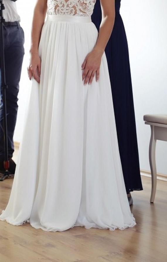Chiffon Beach Wedding Dresses Fresh Katia Chiffon Skirt Maxi Detachable Plus Size Available Simple Beach Wedding Separates Bohemian Bridal