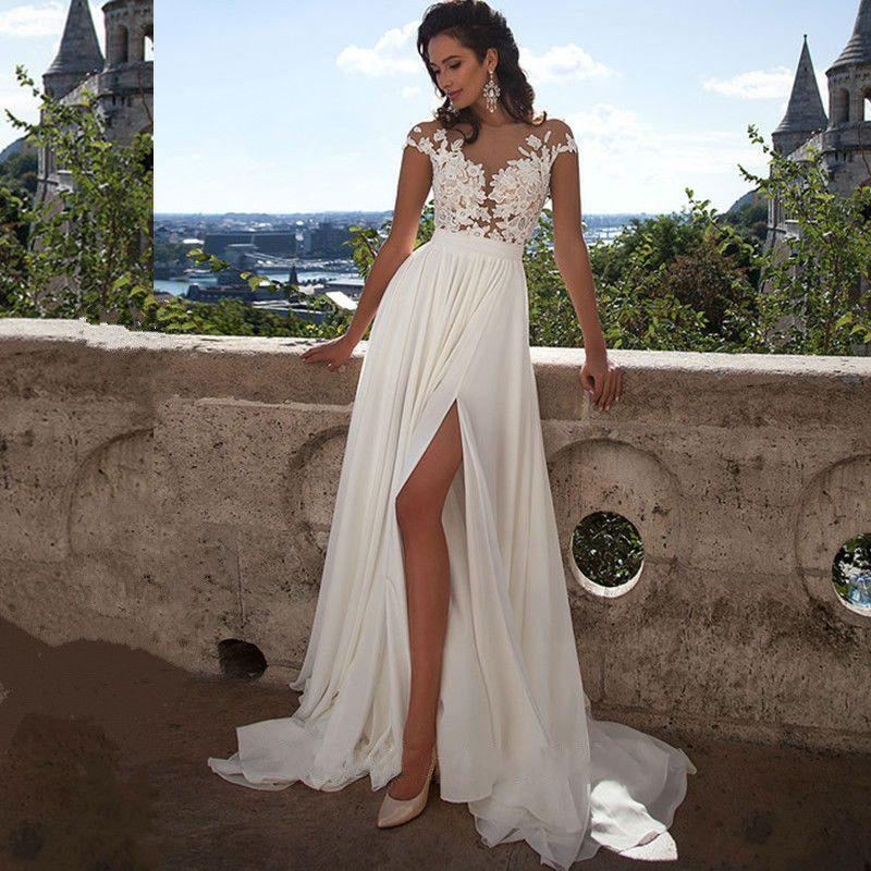 Chiffon Beach Wedding Dresses Inspirational Cheap Simple Beach Wedding Dresses 2017 Vestido De Noiva