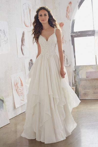 Chiffon Beach Wedding Dresses Luxury Simple Elegant Beach Wedding Dress for Summer