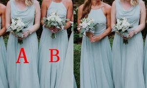 25 Unique Chiffon Bridesmaid Dresses for Beach Wedding