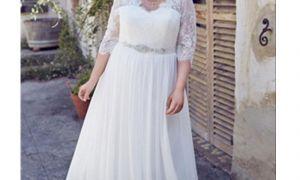 21 Inspirational Chiffon Plus Size Wedding Dress