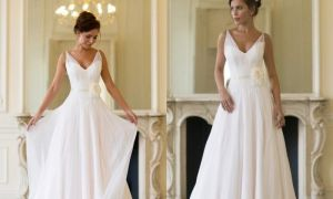 24 Awesome Chiffon Wedding Dresses