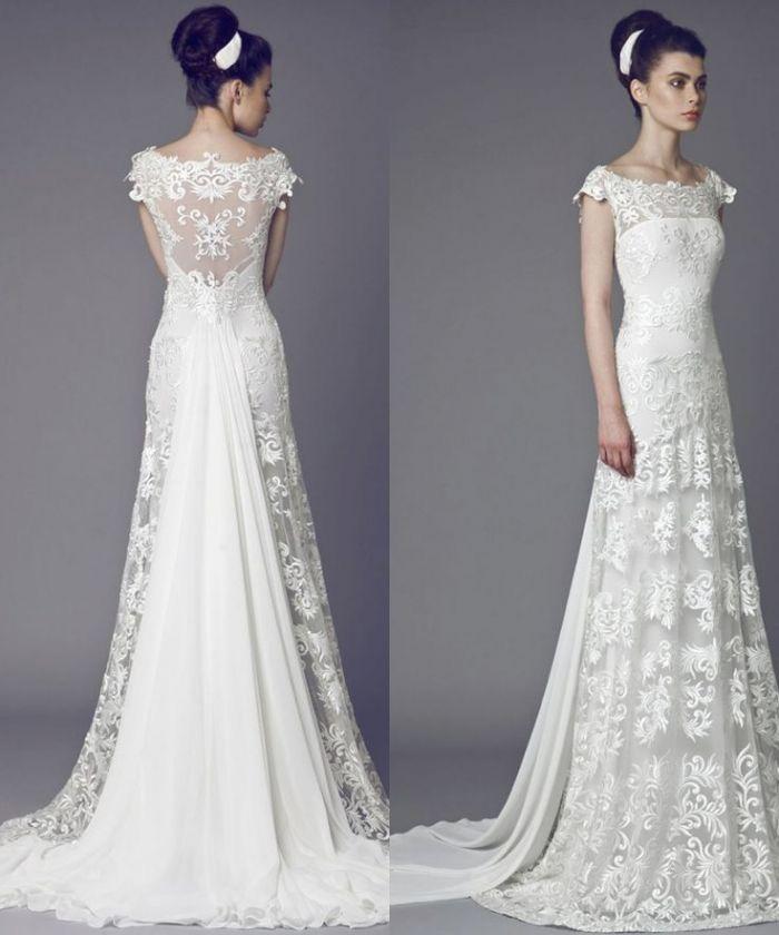 wedding gown sleeve inspirational elegant chiffon wedding dress