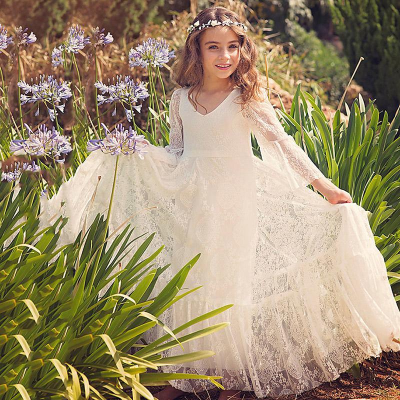 beach flower girl dresses wei elfenbein erstkommunion