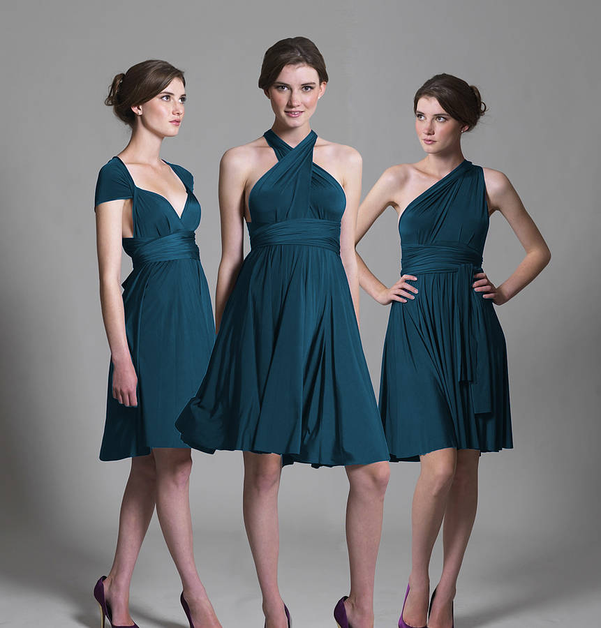original multiway knee length bridesmaid dress