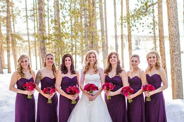 Christmas Bridesmaid Dresses Elegant Winter Wedding Purple Bridesmaid Dresses Wedding