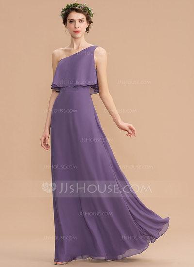 Clover Bridesmaid Dresses Best Of A Line E Shoulder Floor Length Chiffon Bridesmaid Dress