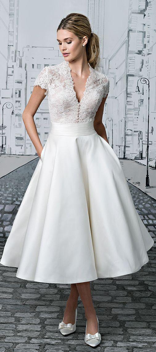 Cocktail Lenght Wedding Dresses Elegant Tea Length Wedding Dress Justin Alexander 2017 More