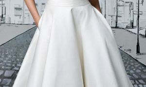 24 Elegant Cocktail Length Wedding Dress