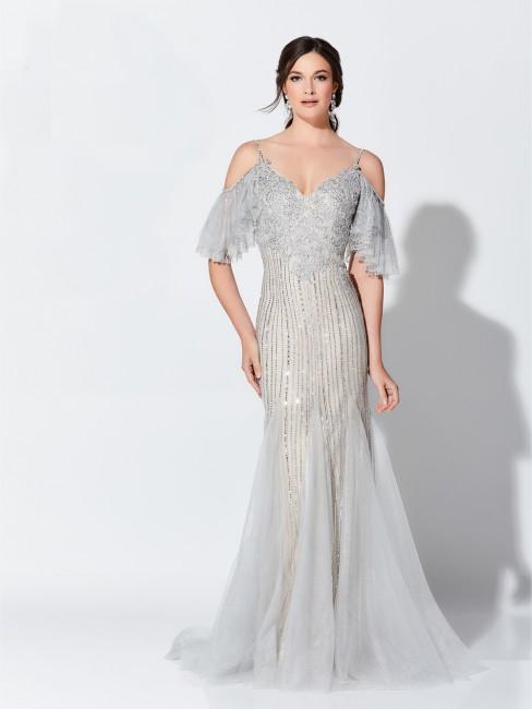 ivonne d exclusively for mon cheri 119d46 cold shoulder evening gown 01 558