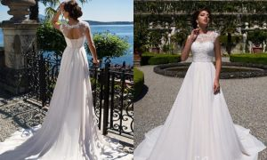 26 Fresh Colored Beach Wedding Dresses