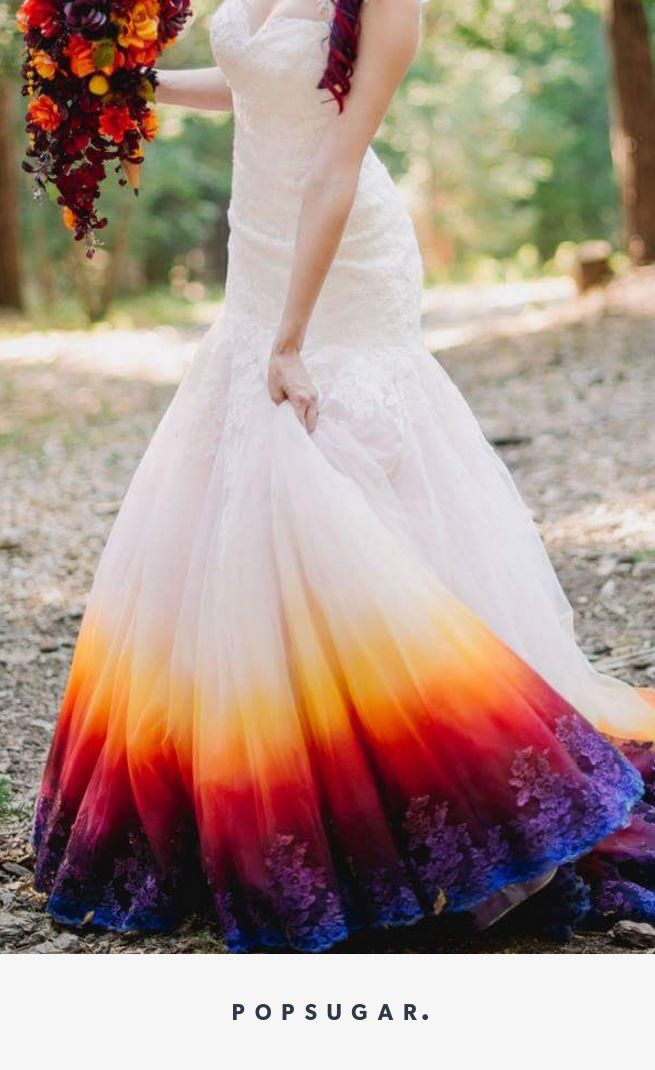 Colorful Wedding Gowns Awesome the Wedding Dress that Has the Internet Divided