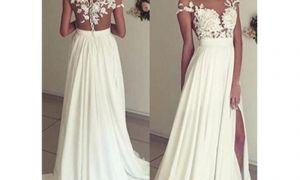 28 Luxury Column Sheath Wedding Dresses