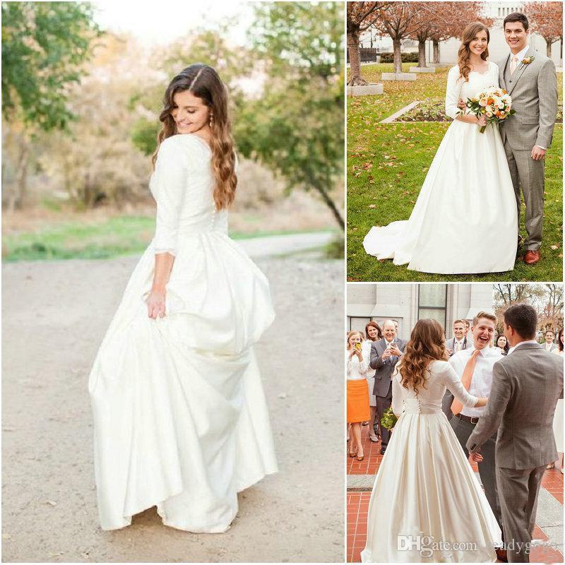 modest design country wedding dress 2018