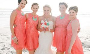 24 New Coral Wedding Dresses