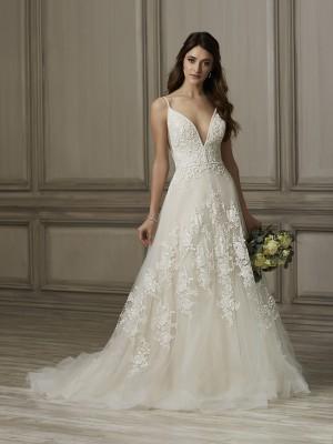 adrianna papell kinsley spaghetti strap wedding gown 01 466