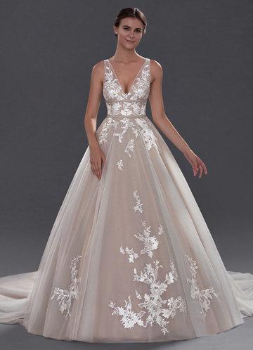 Court Train Wedding Dress Elegant Diamond White Wedding Dresses Bridal Gowns