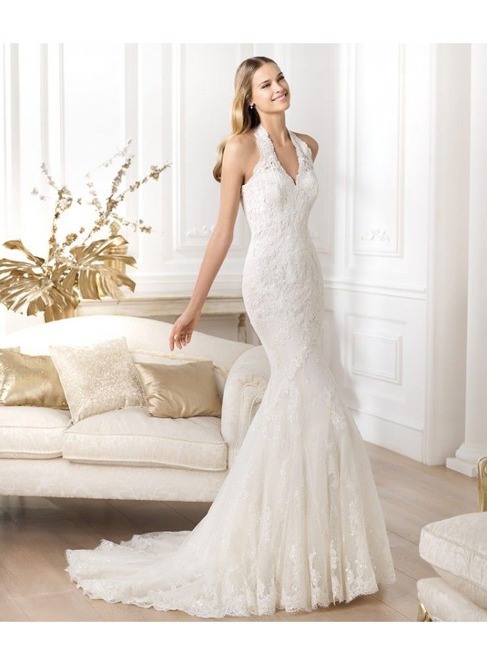 Court Train Wedding Dress Fresh Sheath Colum Mermaid Halter Lace Court Train Wedding Dresses