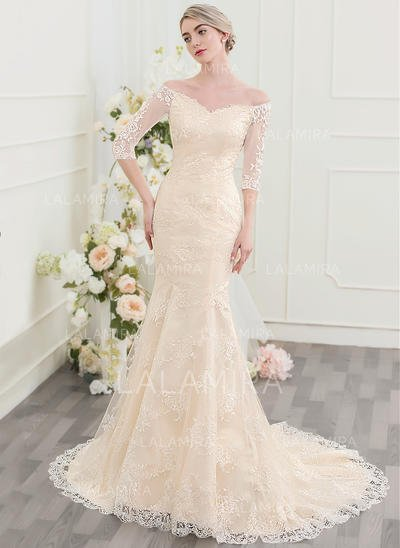 Court Train Wedding Dress Inspirational Trumpet Mermaid F the Shoulder Court Train Lace Wedding Dress