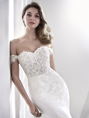 Crepe Wedding Dress Awesome San Patrick Laelia Wedding Dress Sale F