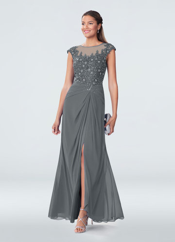 Crepe Wedding Dress Awesome Steel Grey Mother the Bride Dresses