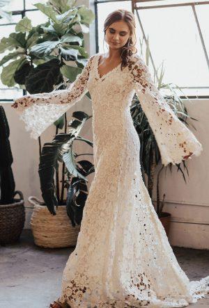 Arabelle Crochet Wedding Dress 300x443