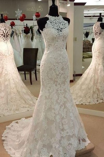 custom made wedding dresses wedding dresses high neck wedding dresses bridal gown lace wedding preferred
