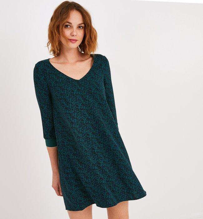 bias cut dress green print zp s3 produit 650x699