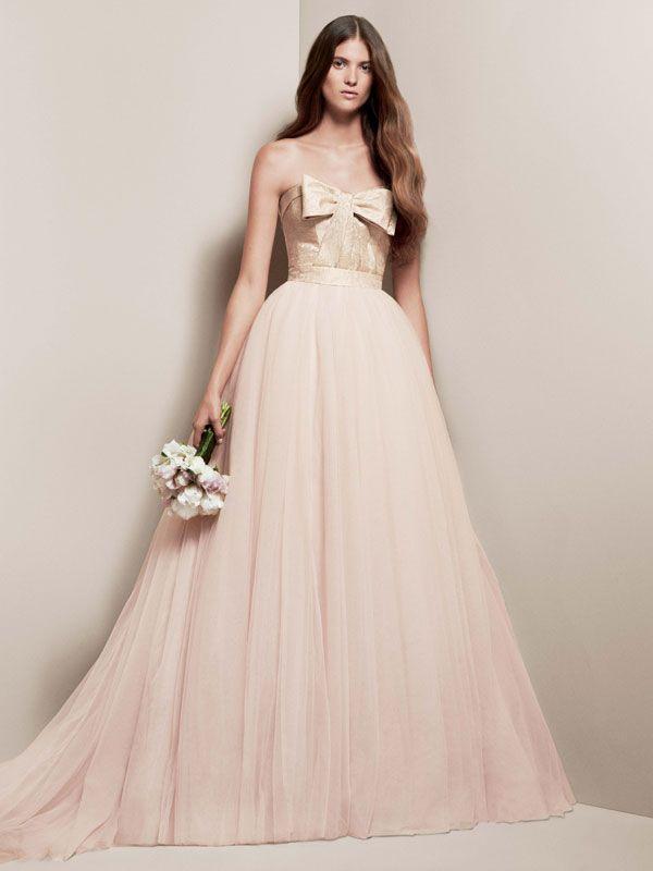blush wedding dress from davids bridal bridal gowns pinterest