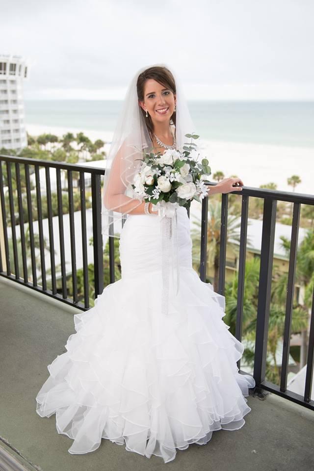 David Bridal.com Luxury David S Bridal Collection organza Mermaid Wedding Dress with Ruffled Skirt Wedding Dress Sale F